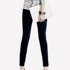 CAbi 292 Black Stretch Ponte Tiffany Ankle Pants